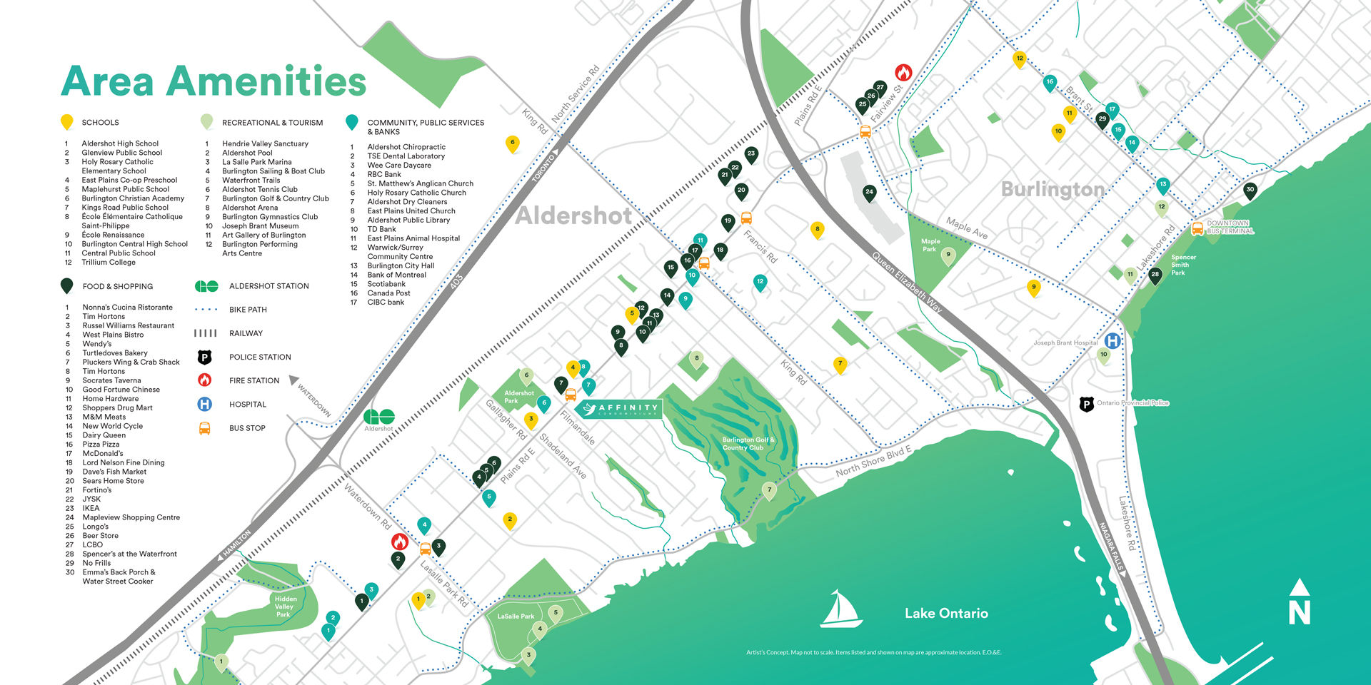 Site plan for Affinity Condominiums in Burlington, Ontario