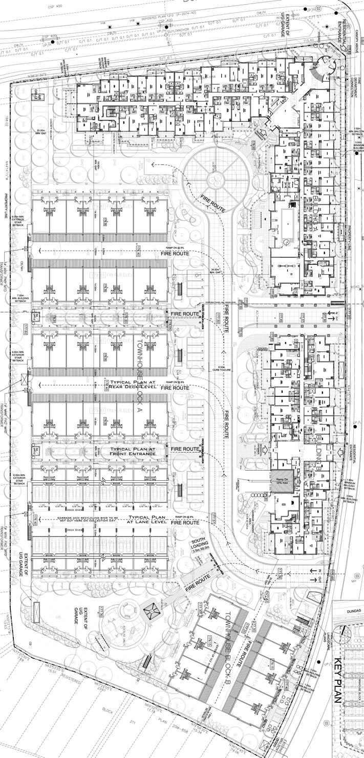 Site plan for Emporium at Joshua Creek in Oakville, Ontario