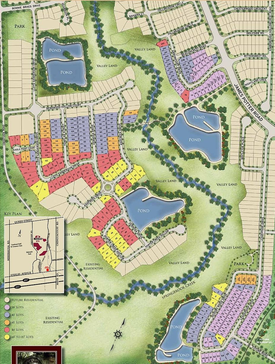 Site plan for The Ravines of Credit Valley in Brampton, Ontario