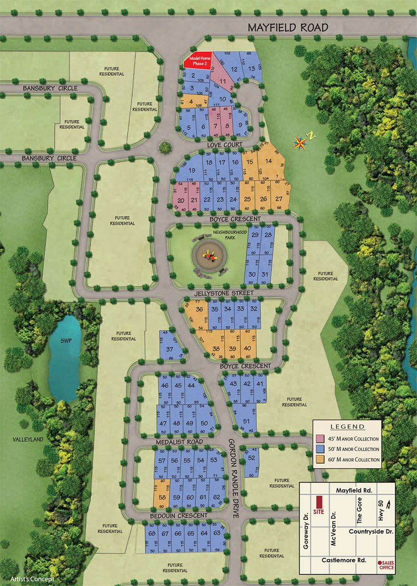 Site plan for Vales of Humber (Mk) in Brampton, Ontario