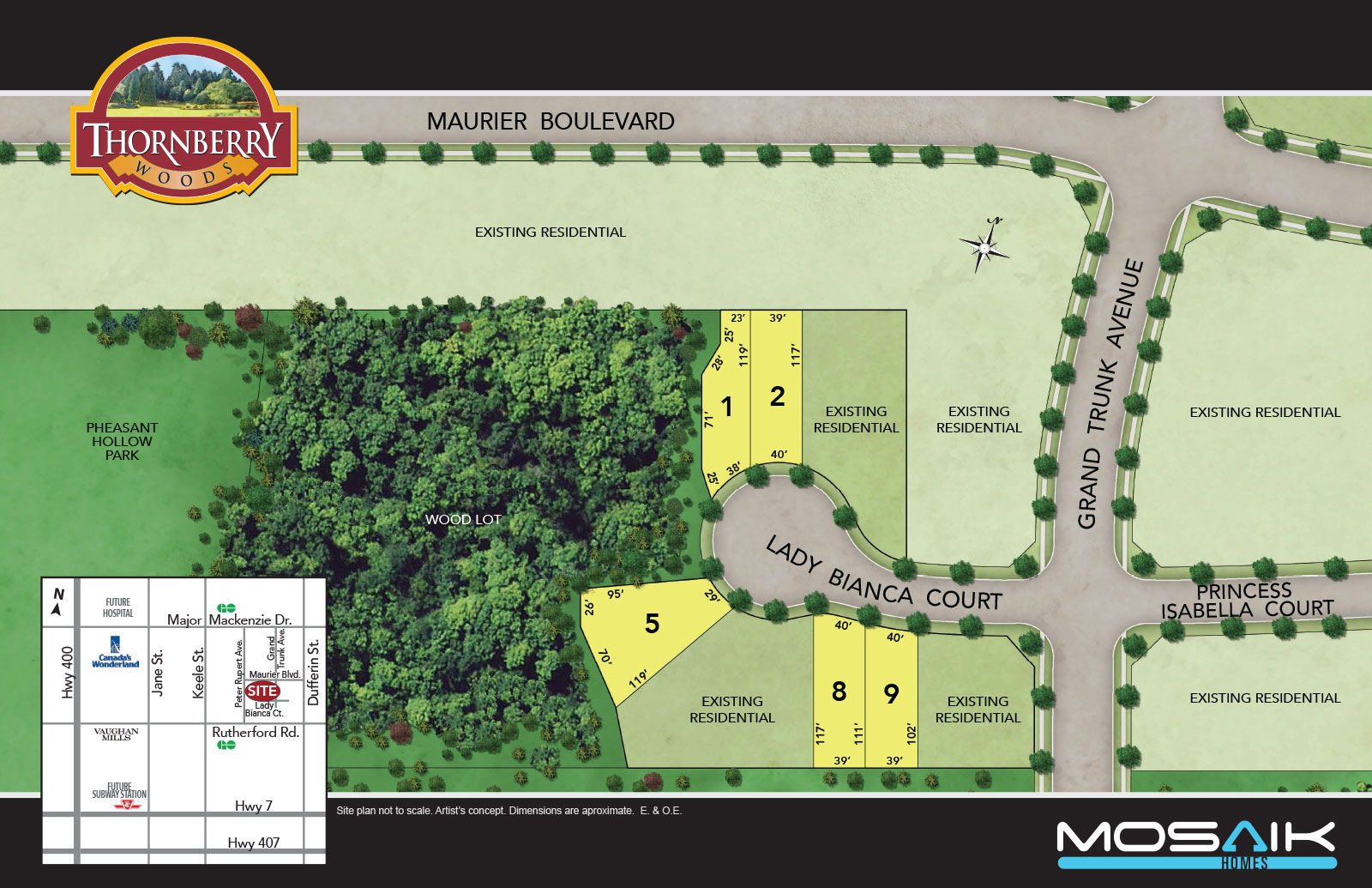 Site plan for Thornbury Woods in Maple, Ontario
