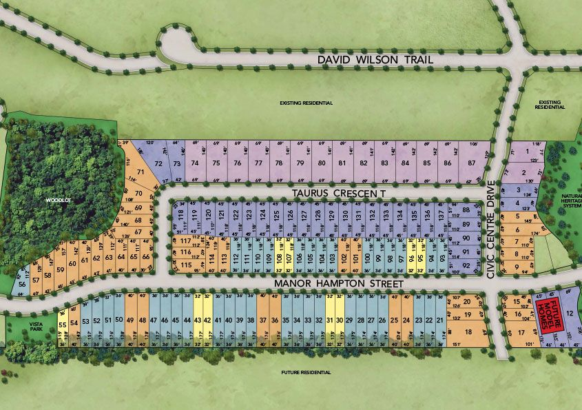 Site plan for Sharon Village (Mk) in East Gwillimbury, Ontario