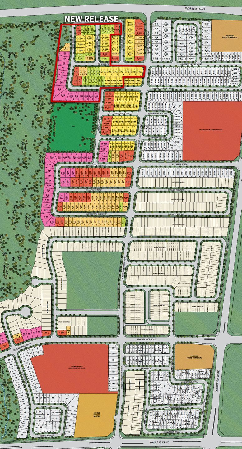 Site plan for Upper Mount Pleasant in Brampton, Ontario