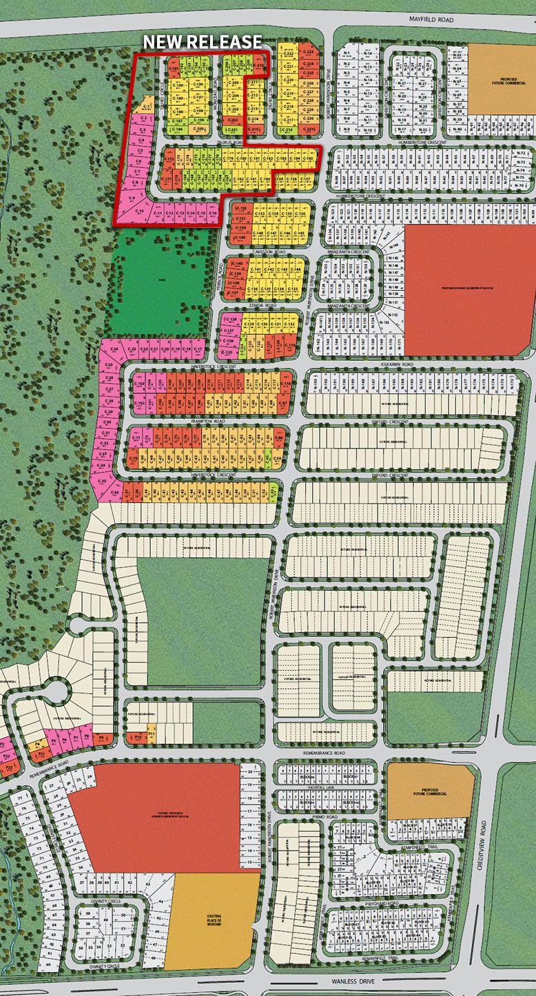 Site plan for Upper Mount Pleasant in Brampton, Ontario