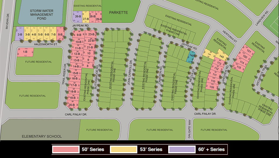 Site plan for Vales of the Humber (Av) in Brampton, Ontario