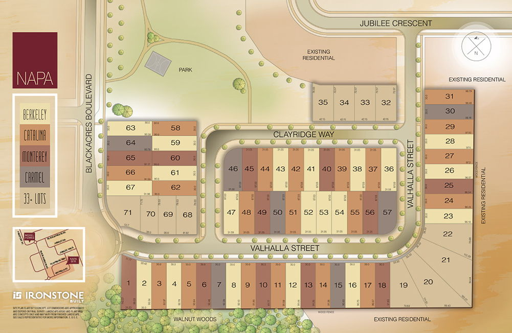Site plan for Napa in London, Ontario