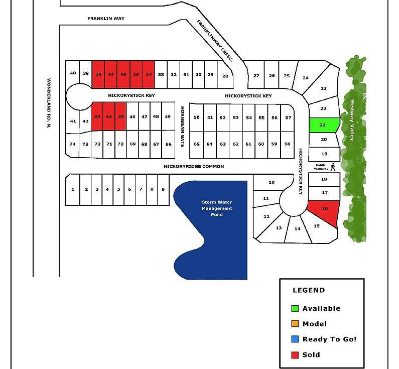 Site plan for Hickory Heights in London, Ontario