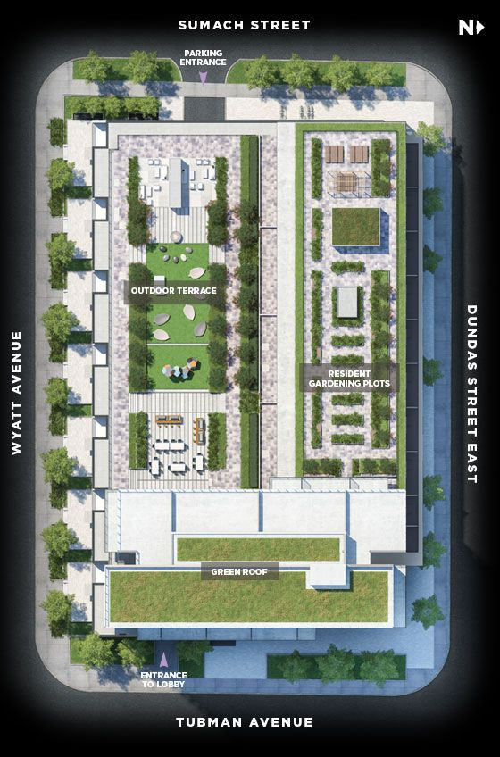 Site plan for The Wyatt in Toronto, Ontario