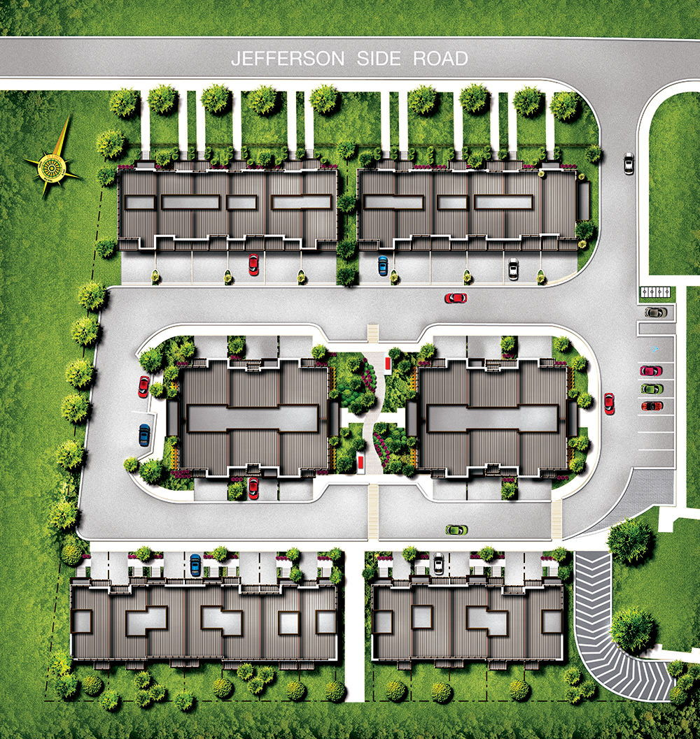 Site plan for Modern Manors in Richmond Hill, Ontario