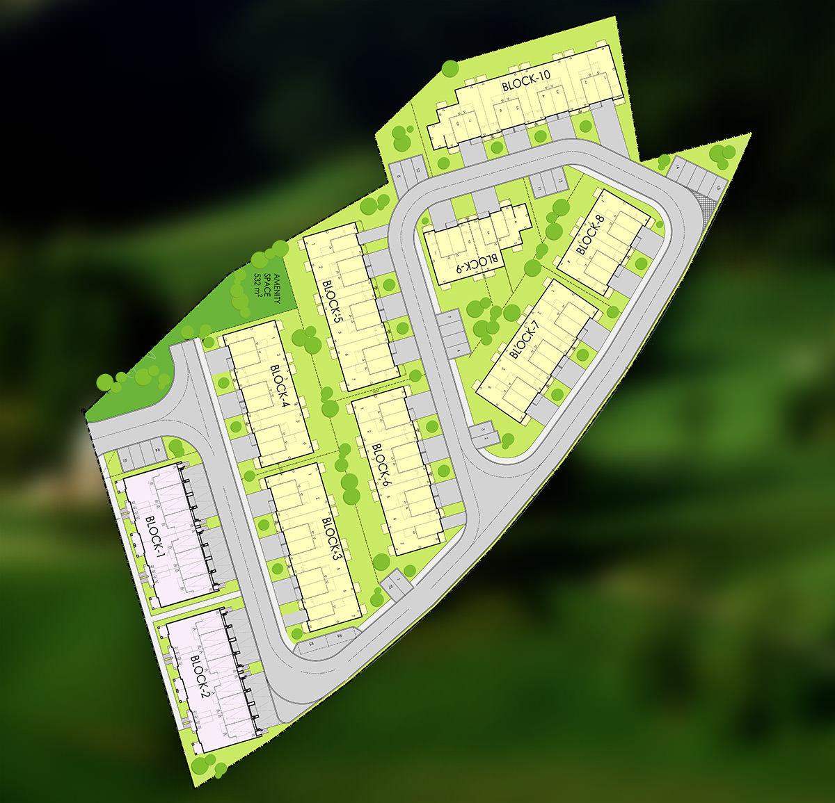 Site plan for Richmond Towns in Richmond Hill, Ontario