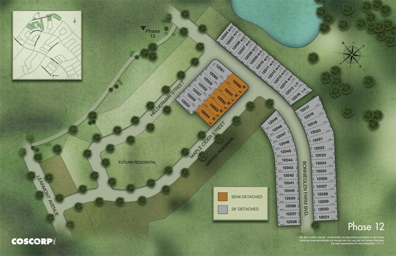Site plan for Southfields in Caledon, Ontario