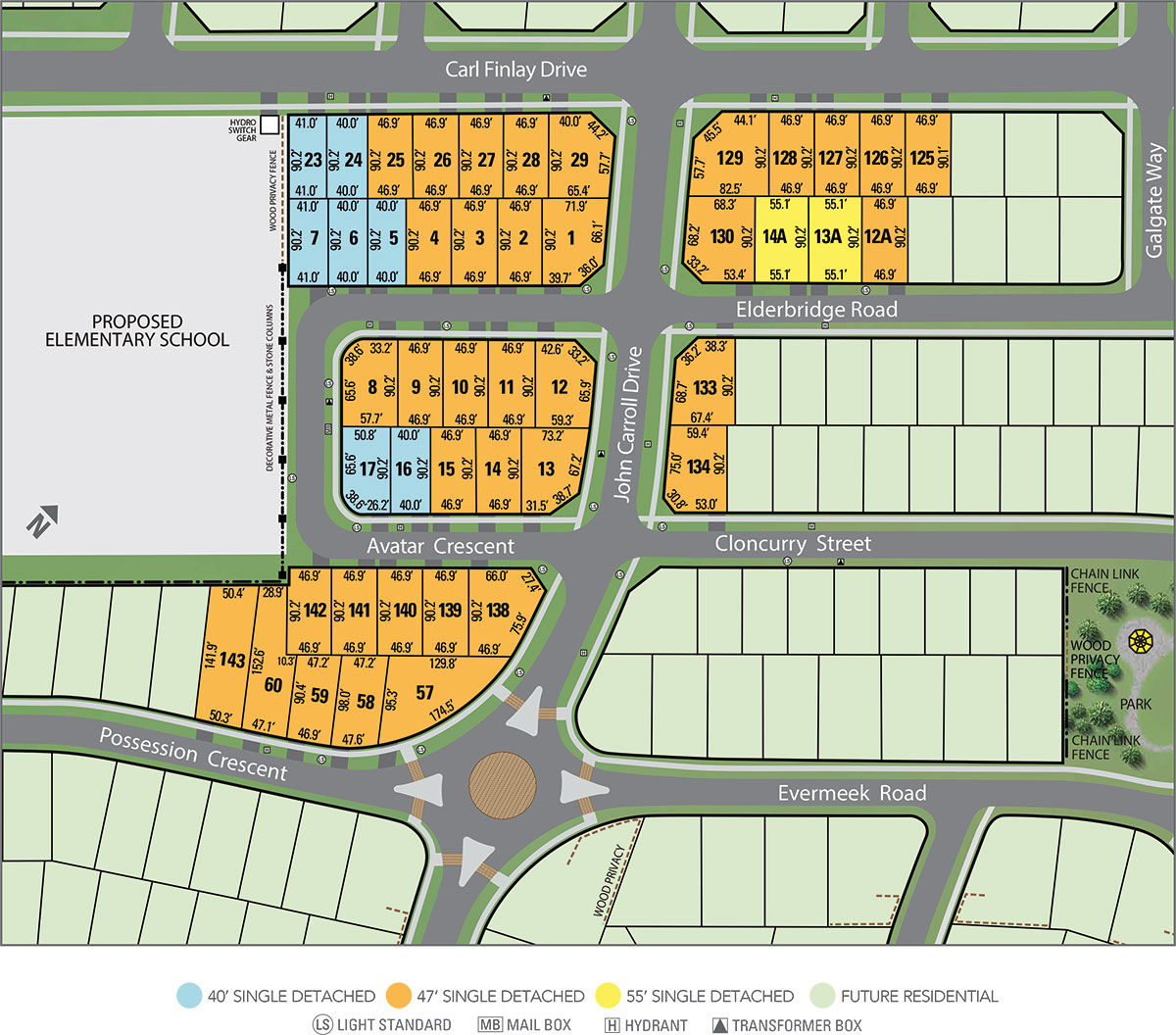 Site plan for Vales of the Humber Estates in Brampton, Ontario