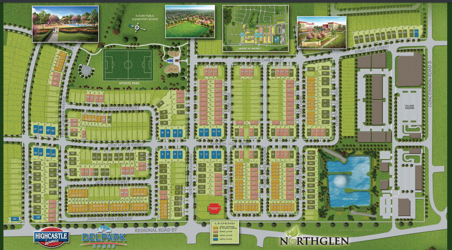 Site plan for Northglen in Clarington, Ontario