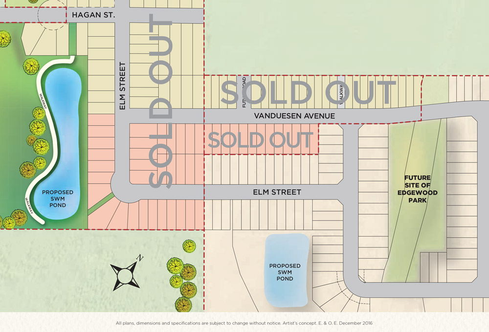 Site plan for Edgewood Greens in Dundalk, Ontario