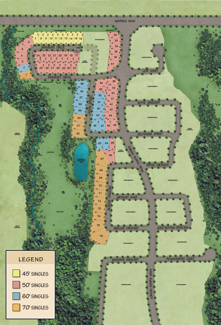 Site plan for Vales of Humber (RB) in Brampton, Ontario