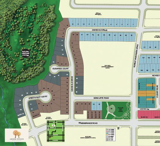 Site plan for Amber Woods in Brampton, Ontario