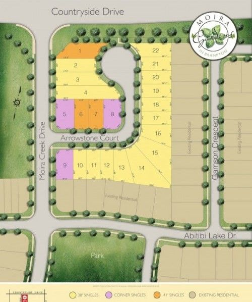 Site plan for Moira Gardens in Brampton, Ontario