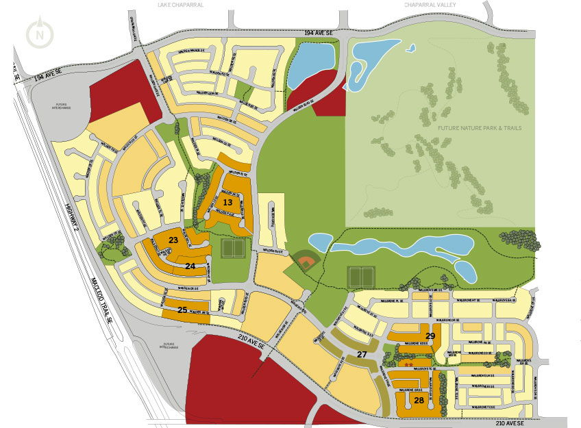 Site plan for Walden (CH) in Walden, Alberta