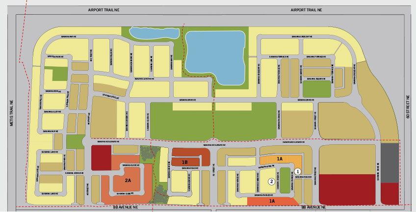 Site plan for Savanna in Saddle Ridge, Alberta