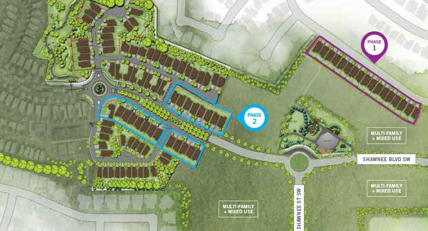 Site plan for Shawnee Park in Calgary, Alberta