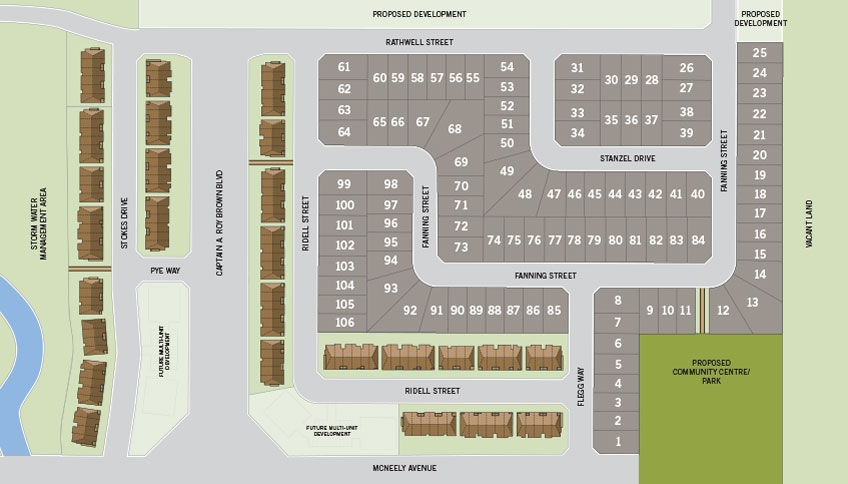Site plan for Miller's Crossing in Ottawa, Ontario