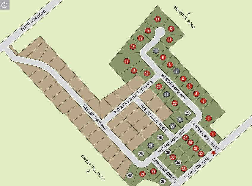 Site plan for Ridgewood Estates in Stittsville, Ontario