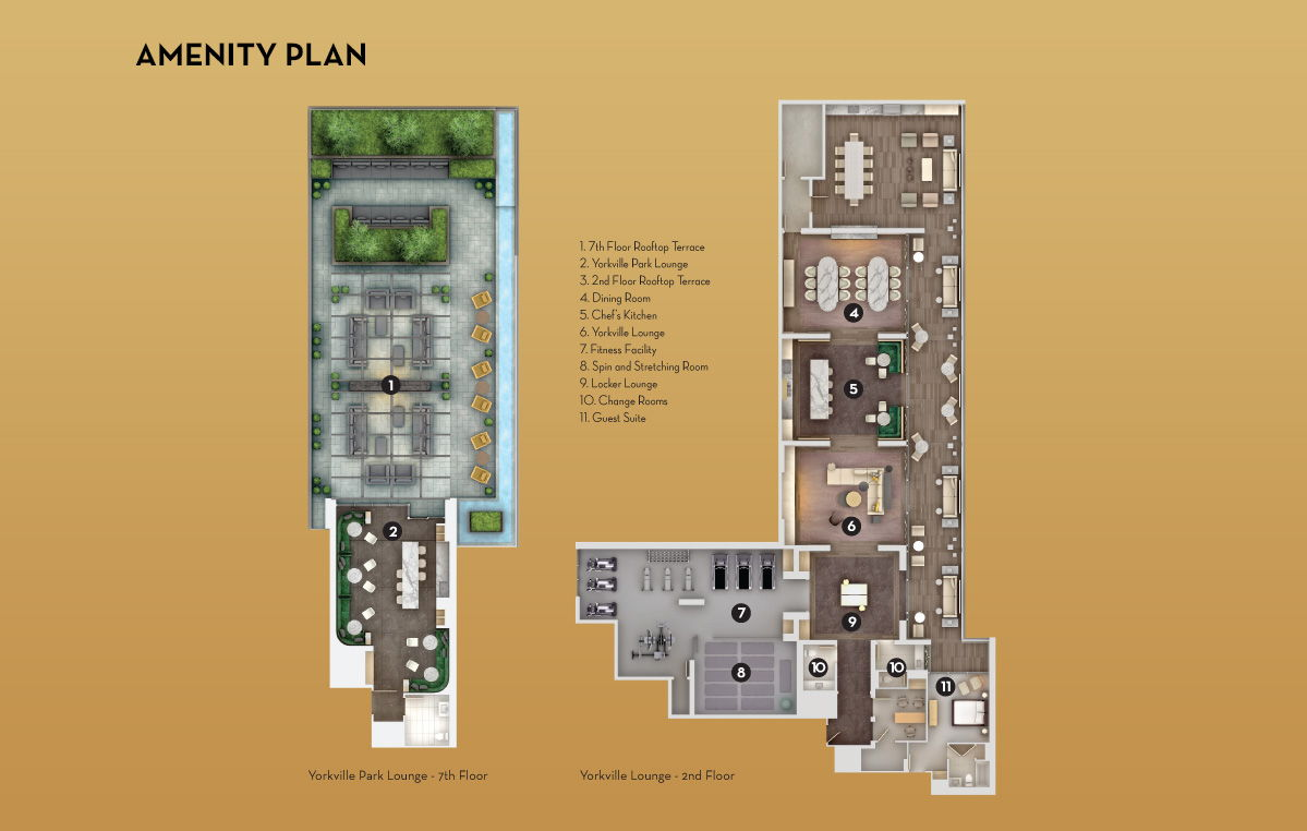 Site plan for Yorkville Park in Toronto, Ontario
