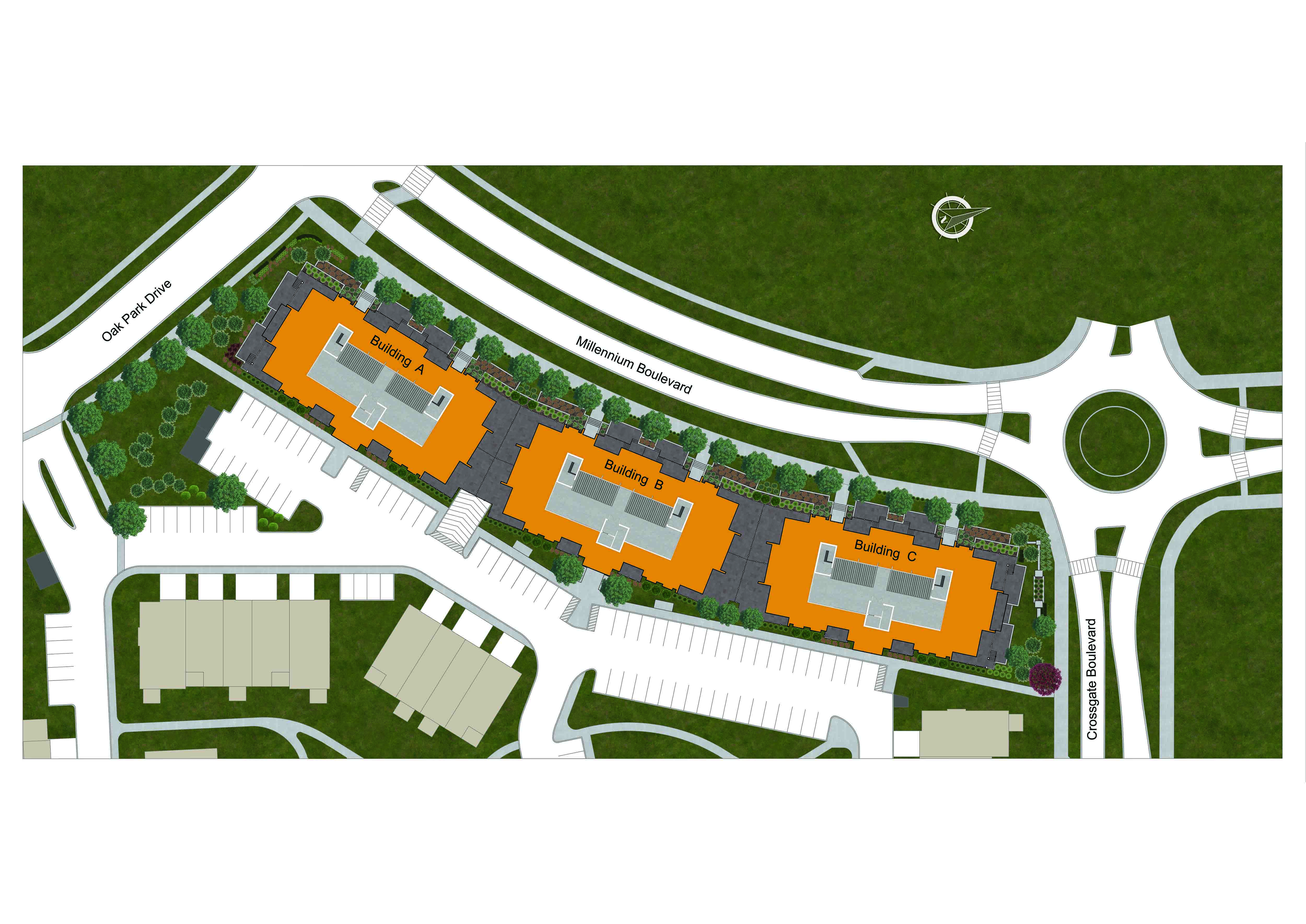 Site plan for Trailside in Waterloo, Ontario
