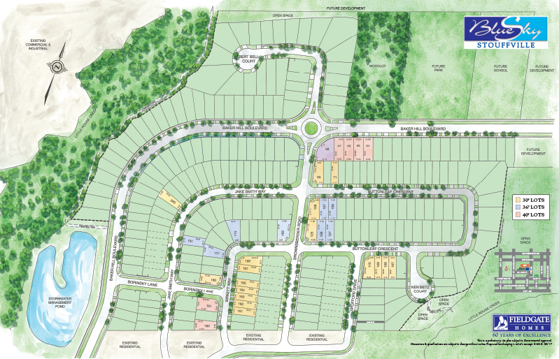 Site plan for Blue Sky in Whitchurch-Stouffville, Ontario