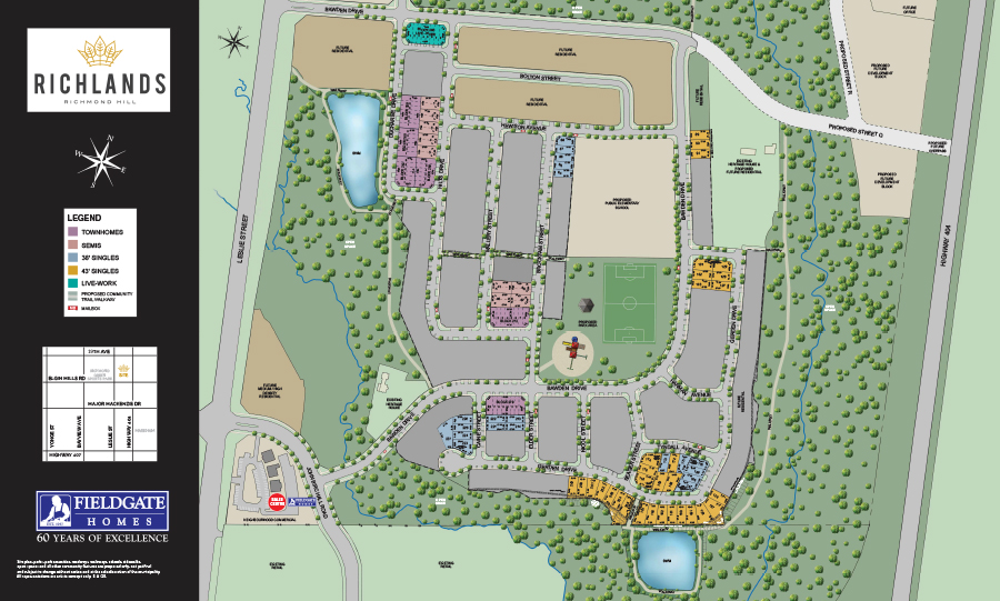 Site plan for Richlands in Richmond Hill, Ontario