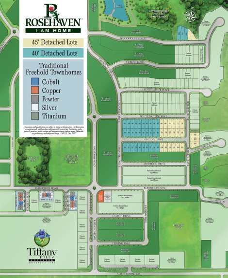 Site plan for Tiffany Hill in Ancaster, Ontario