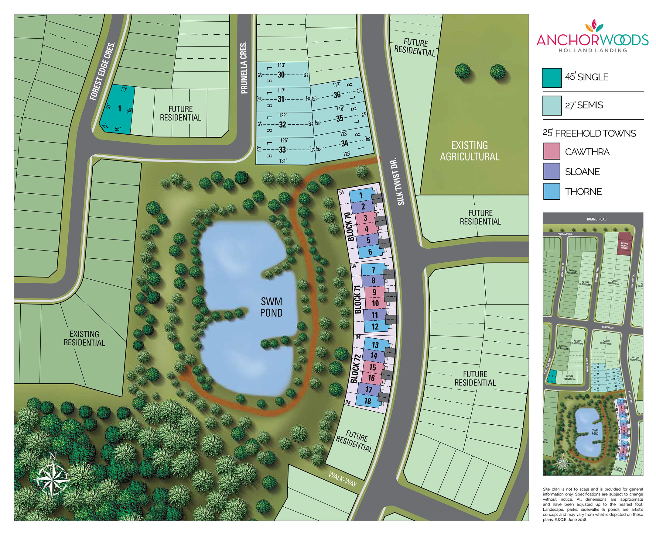 Site plan for Anchor Woods in Holland Landing, Ontario