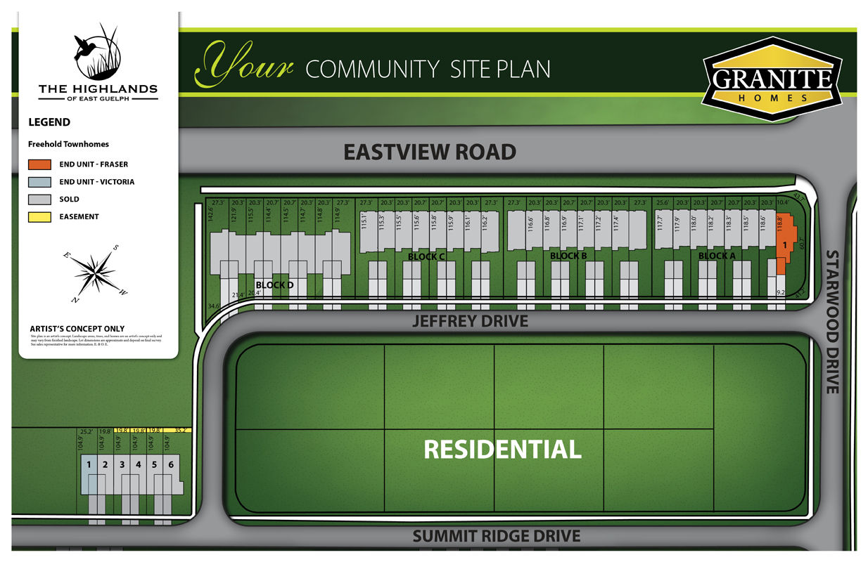 Site plan for The Highlands in Guelph, Ontario
