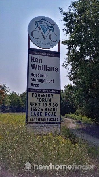 Ken Whillans sign as seen from Hurontario Rd