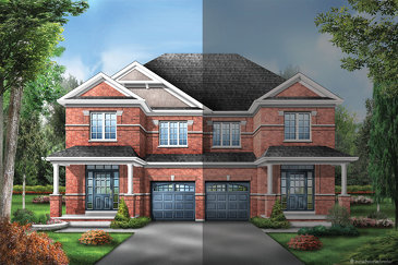 The Elmwood new home model plan at the Upper Oaks by Starlane Home Corporation in Oakville