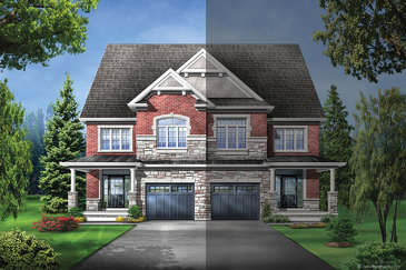 The Elmwood 6 new home model plan at the Upper Oaks by Starlane Home Corporation in Oakville