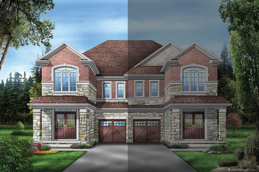 The Elmwood 5 new home model plan at the Upper Oaks by Starlane Home Corporation in Oakville