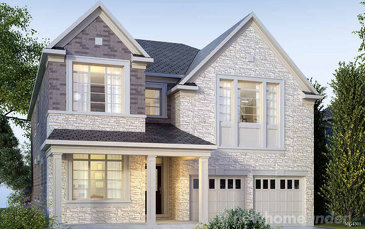 The Barclay new home model plan at the Arbor Peaks by Great Gulf in Milton