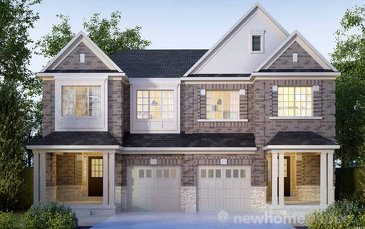 The Bennet new home model plan at the Arbor Peaks by Great Gulf in Milton