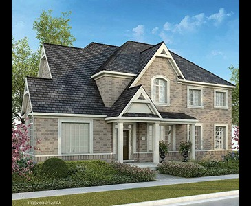The Albright new home model plan at the Sharon Village by Great Gulf in East Gwillimbury