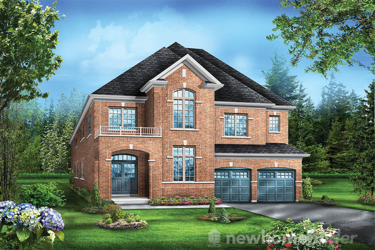 Juniper 6 floor plan at Saddle Ridge (GP) by Greenpark in Milton, Ontario