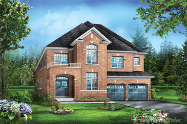 The Juniper 6 new home model plan at the Saddle Ridge (GP) by Greenpark in Milton
