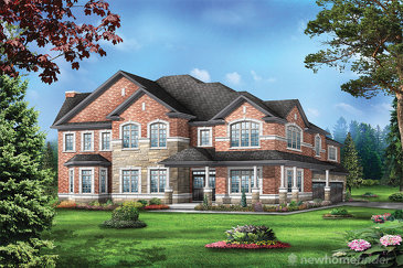 The Juniper 12 new home model plan at the Saddle Ridge (GP) by Greenpark in Milton