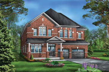 The Juniper 3 new home model plan at the Saddle Ridge (GP) by Greenpark in Milton