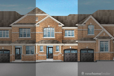 The Ivy 1 new home model plan at the Saddle Ridge (GP) by Greenpark in Milton