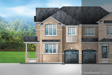 The Ivy 12 new home model plan at the Saddle Ridge (GP) by Greenpark in Milton
