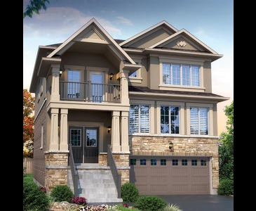 The Eagle new home model plan at the Riverwalk West by Kingwood Homes in Brantford