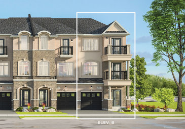 The Violet new home model plan at the Kaleidoscope by Liv Communities in Waterdown