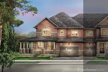 The Manchester new home model plan at the The Classic Townhomes by Liv Communities in Brampton