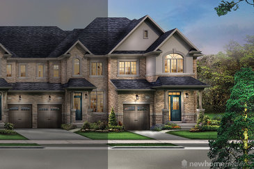 The Queenston new home model plan at the The Classic Townhomes by Liv Communities in Brampton